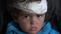 Young girl 'only one left' after air strike