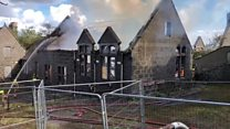 Fire rips through former shcool in Aberdeen