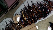 More than 1,000 guns seized from LA home