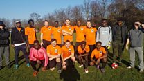 Refugees 'speak the language of football'