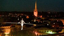 High-wire 'journey' opens city festival