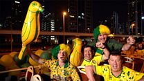 Norwich fans hold bus parade in Dubai