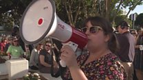 Pro-choice protest over Alabama abortion law