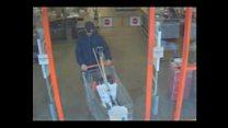 Moment sword killer is captured on CCTV