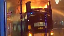 Bus's top-deck fire suspected arson