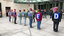 Protest held in support of British NI veterans