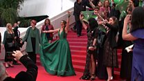 Abortion campaigners take to Cannes red carpet