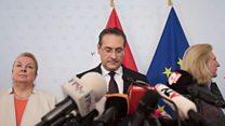 Austria's vice-chancellor explains resignation