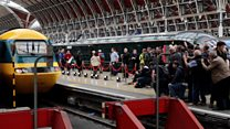 Hundreds bid farewell to high speed train