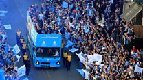 Manchester City 'Fourmidables' trophy parade