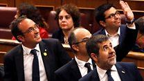 Catalan jailed MPs enter Spain parliament