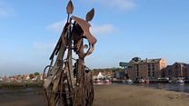 Sea horse sculpture gets forever home