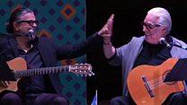 """Luis Enrique y su tío Luis Enrique Mejía cantan """"Pobre María"""""""