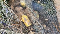 Power workers unearth Home Guard grenades