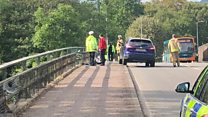 Man falls in river in Cardiff collision