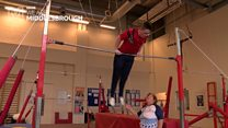 Gymnasts celebrate Special Olympics medals