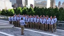 Rugby club choir sing at 9/11 Ground Zero