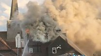 Fire partly destroys historic Surrey pub