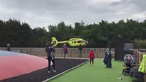 Lightwater Valley: Boy airlifted to hospital