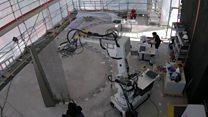 A casa construída por robôs