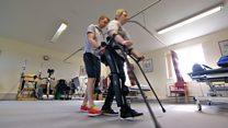 'Robotic legs helped we walk again'