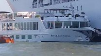 Cruise ship ploughs into Venice harbour