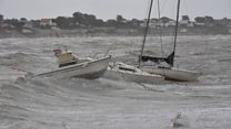 Storm Miguel hits French coast