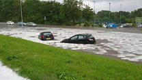 Footage shows level of flash flooding
