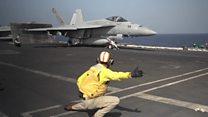 بحیرہ عرب میں امریکی طیارہ بردار جہاز کی آمد
