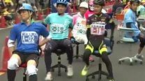 سباق 200 متر بكراسي المكتب