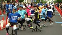 Гонки на офисных стульях – японский «Гран-при»