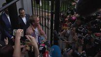 Freed Russian journalist speaks after release