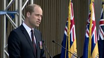 Prince William attends D-Day service
