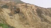 'Huge' cliff collapse caught on camera