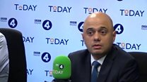 Sajid Javid: 'I don't like not being invited to Trump dinner'