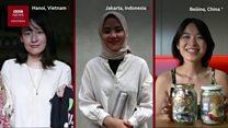 Para perempuan Asia yang bertekad mengurangi sampah plastik