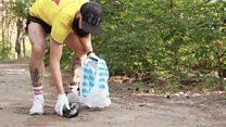 Что такое плоггинг? Как житель Харькова собирает мусор во время пробежек