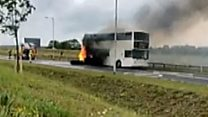 Children evacuated from bus fire