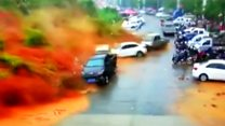 Terrifying moment landslide hits in China