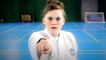 Taekwondo makes special needs girl 'feel strong'