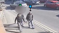 Student's knife attack caught on CCTV