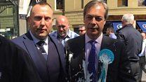 Man throws milkshake over Nigel Farage