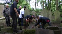 Weightlifters step in to help transform cemetery