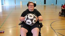Powerchair Football: 'It gives me a chance to play sport'.