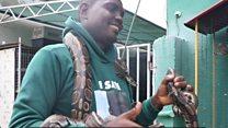 Meet di snakeman of Lagos