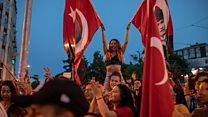 جشن پیروزی مخالفان اردوغان در استانبول