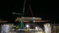Timelapse video of bridge installation