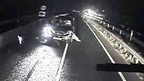 Drunk driver seen on wrong side of A-road