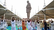 Forced out by world's tallest statue