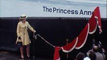 Princess Anne visits namesake hovercraft
